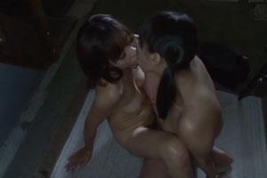No999|暗い室内で全裸で抱き合いレズセックスおまんこ擦り合わせて潮吹いちゃう素人巨乳レズカプ